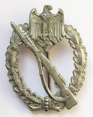 Infanterie Sturmabzeichen in Silber, Unmarked