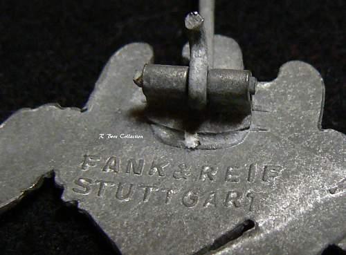 Infanterie Sturmabzeichen in Silber, Frank und Reif, Marked