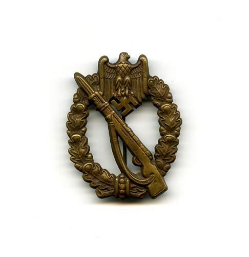Infanterie Sturmabzeichen W.H. original or fake