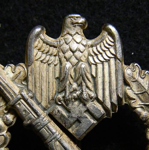 """Infanterie Sturmabzeichen in Silber- """"Egghead"""""""