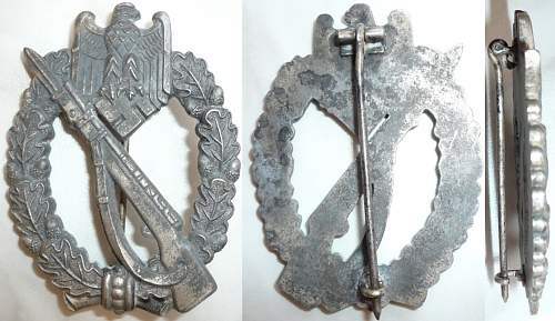Infanterie Sturmabzeichen = Infantry Assault badge - opinion please