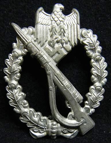 Infanterie Sturmabzeichen in Silber, FLL,  Freidrich Linden, Ludenschied