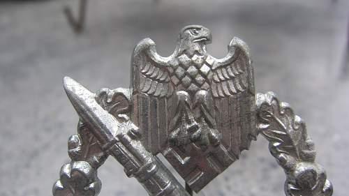 My new Infanterie Sturmabzeichen