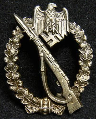 Infanterie Sturmabzeichen in Silber, GWL, Gebruder Wegerhoff, Ludenscheid