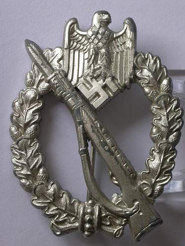 Infanterie Sturmabzeichen Silber, Zink, W.H.
