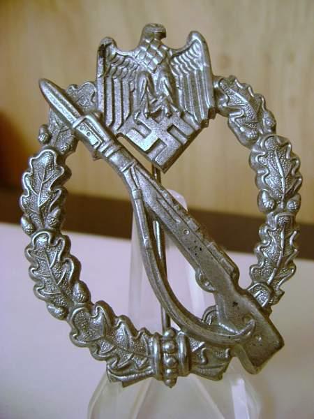 Infanterie Sturmabzeichen in Silber,Unmarked  Ernst Muller