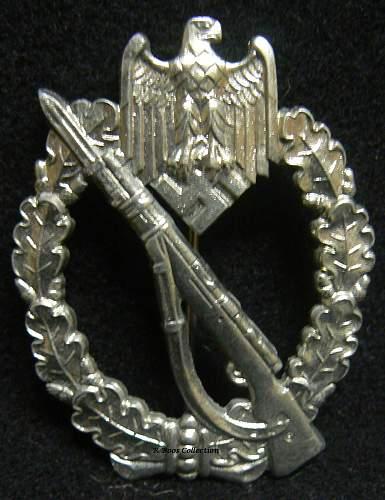 """Infanterie Sturmabzeichen Silber """"deformed leaf"""""""