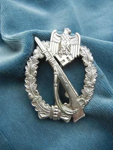 Infanteriesturmabzeichen in Silber, FZS
