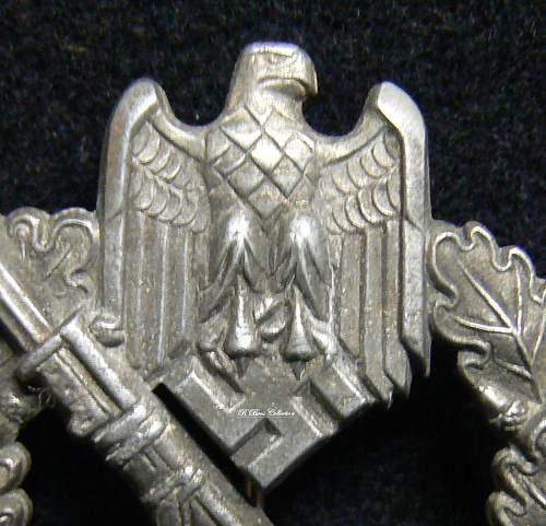 Infanteriesturmabzeichen in Silber, Gottlieb & Wagner