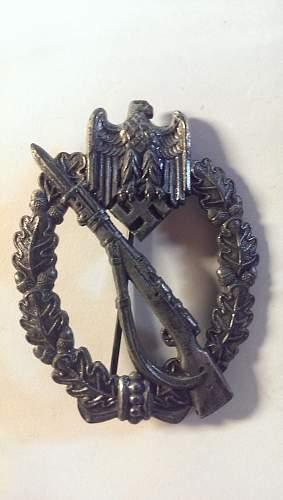 Unmarked Infanterie Sturmabzeichen