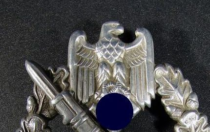 Real Infanterie-Sturmabzeichen Silber????