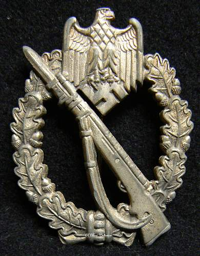 Infanterie Sturmabzeichen in Silber, MK in Triangle, Unknown Maker