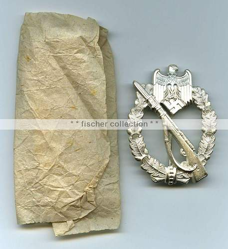 Infanterie Sturmabzeichen in Silber Real - Wernstein