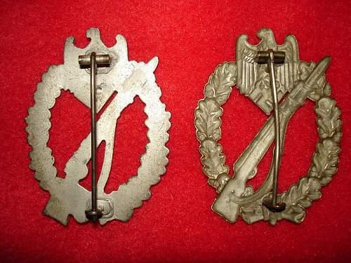 2 Infanterie Sturmabzeichen.