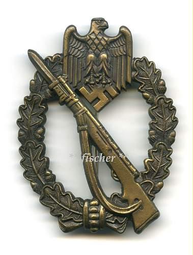 Infanterie Sturmabzeichen = Infantry Assault badge