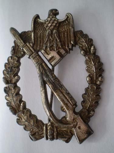 Infanterie Sturmabzeichen in silber autnenticity