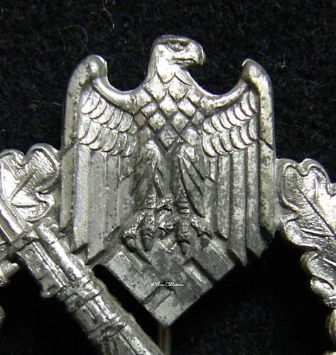 Infanterie Sturmabzeichen in Silber, Alois Rettenmaier, Unmarked.