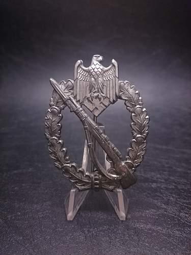 Infanterie-Strumabzeichen Silber