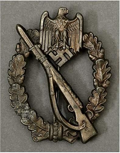 Hermann Aurich Infanterie Sturmabzeichen for review