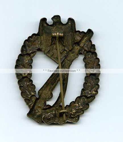 Infanterie Sturmabzeichen in Bronze, Hymmen - Tombak