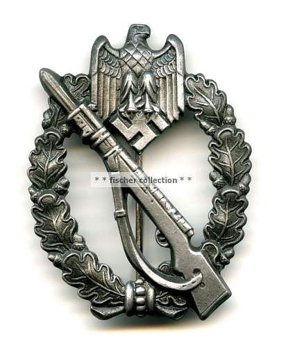 Two Infanterie Sturmabzeichen