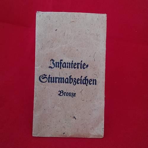 Infanterie Sturmabzeichen Bronze - JFS in Packet