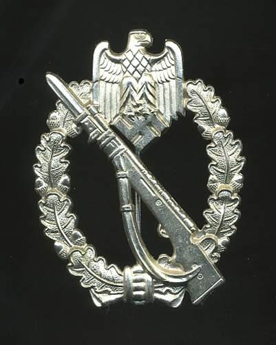 Infanterie Sturmabzeichen in Silber...zimmermann