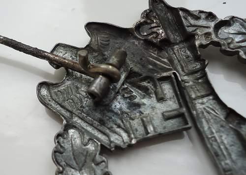 Infanterie Sturmabzeichen in Silber, SHuCo Hollow steel