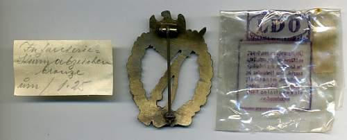 Infanterie Sturmabzeicher in Silber