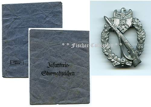 Infanterie Sturmabzeichen - F. Orth Packet Set
