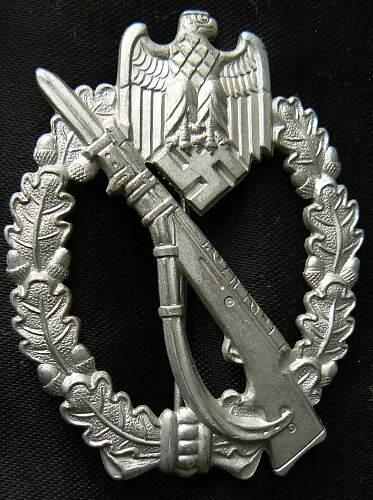 InfanterieSturmAbzeichen Fritz Zimmermann