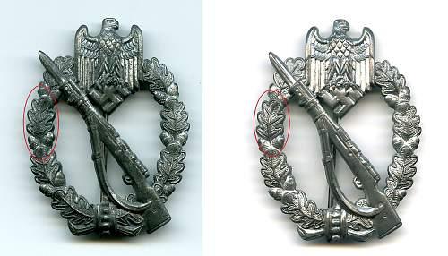 JB&Co Design unmarked Infanterie~Sturmabzeichen