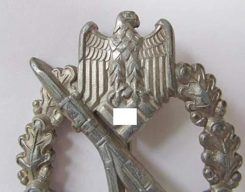 Infanterie Sturmabzeichen in Silber Hollow