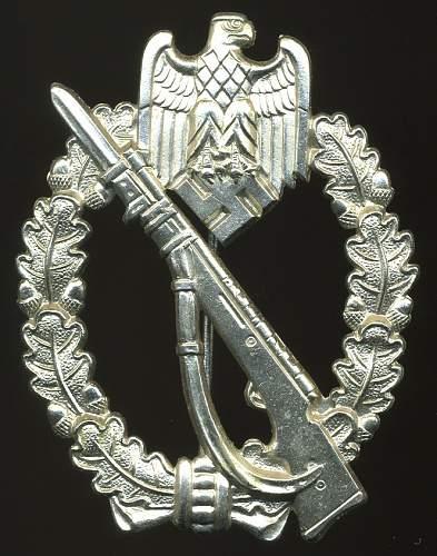 Infanterie Sturmabzeichen in Silber, FZS, Fritz Zimmermann Stuttgart