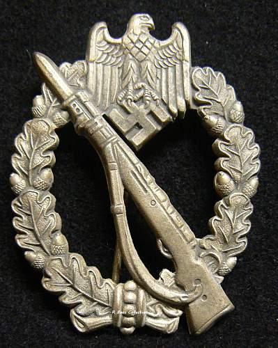 Infanterie Sturmabzeichen in Silber, F.O. Friedrich Orth