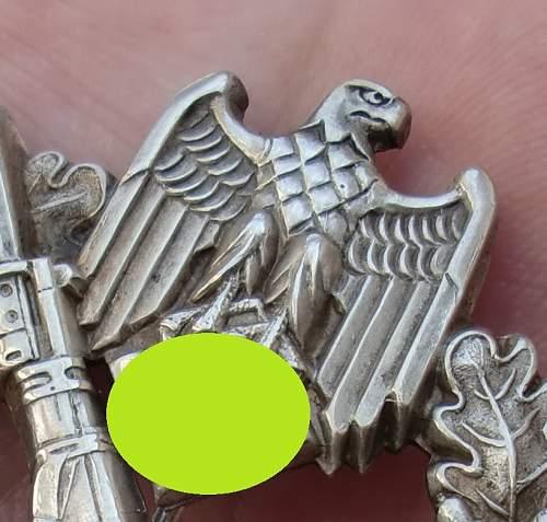 Infanteriesturmabzeichen Silber Original?