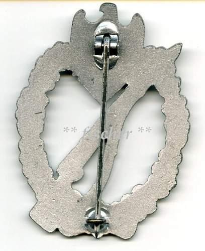 3 x Infantry badges
