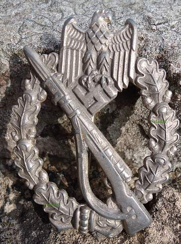 Infanterie Sturmabzeichen in Silber, FLL Late Zinc Hollow