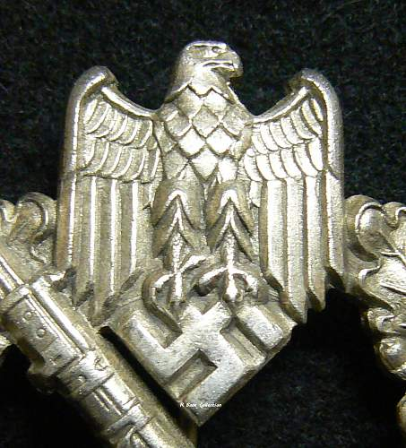 Infanterie Sturmabzeichen in Silber, FLL Design, Type 1