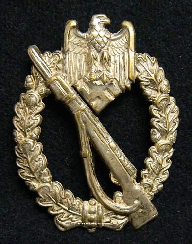 Infanterie Sturmabzeichen in Silber, B.H. Mayer,Schickle Tombak