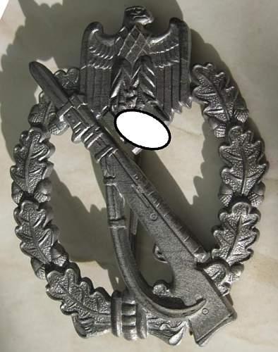 Infanterie Sturmabzeichen in Silber - FSSZ (Fritz Zimmerman)