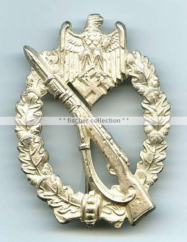 Frosted Infanterie Sturmabzeichen in Silber