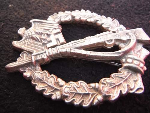 Infanterie Sturmabzeichen in Silber, Hermann Aurich -Dresden