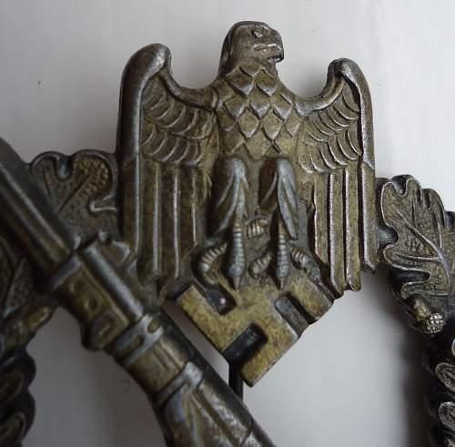 Infanterie Sturmabzeichen Bronze Unmarked RK