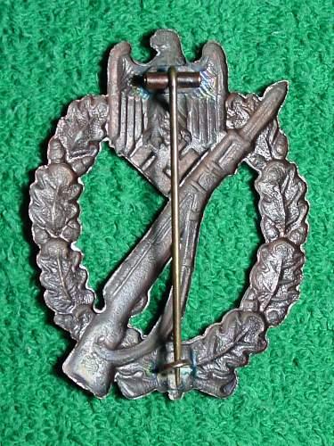Infanterie Sturmabzeichen in Bronze - unmarked