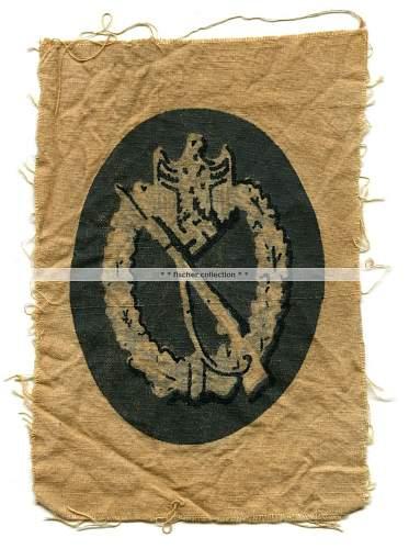 Infanterie Sturm-Abzeichen - Bedrucktem Stoff