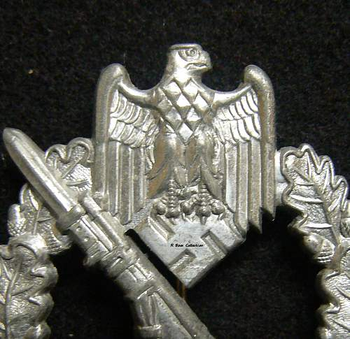 Infantriesturmabzeichen in Silver, AS in Triangle