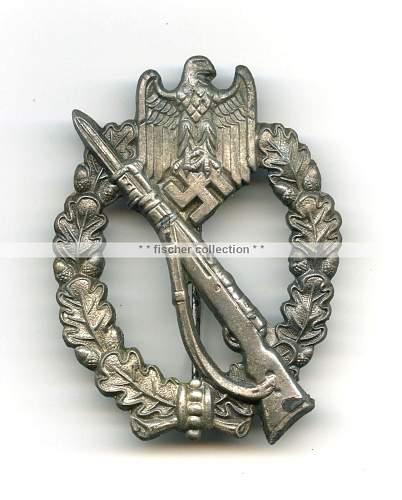 Infanterie Sturmabzeichen in Silber - marked R.S.