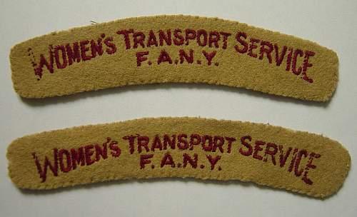 FANY/WTS shoulder titles
