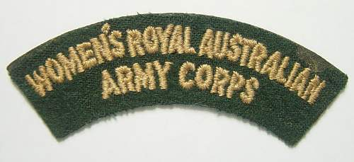 Women's Royal Australian Army Corps shoulder title